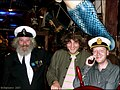 James and Barry with Captain Birds Eye.   He's the one with the longest beard.